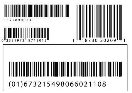 Abstract vector illustration set of barcodes