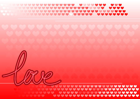 Abstract vector illustration of a background with hearts and love Stock Vector - 4258458