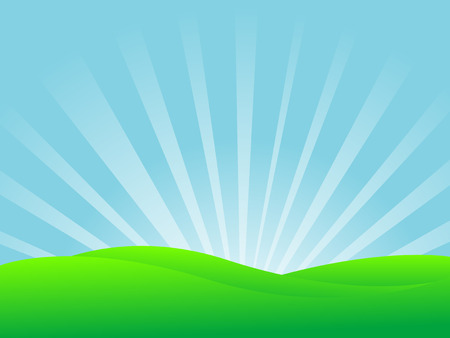 Abstract vector illustration of a landscape
