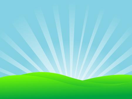 Resumen ilustración vectorial de un paisaje Foto de archivo - 5587951