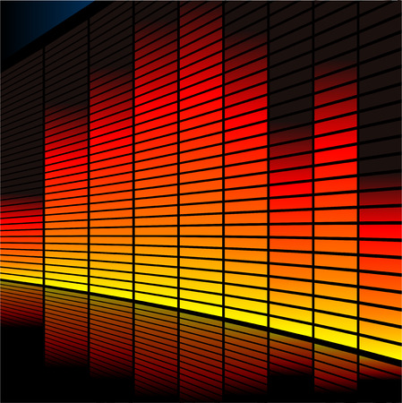 decibel: Abstract vector illustration of a graphic equalizer Illustration