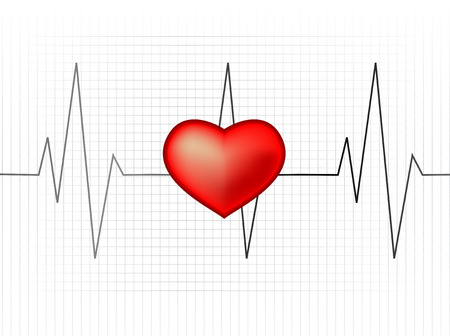 Abstract vector illustration of a heartrate monitor