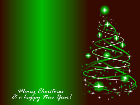 Abstract vector illustration of a christmas tree with twinkles Vector