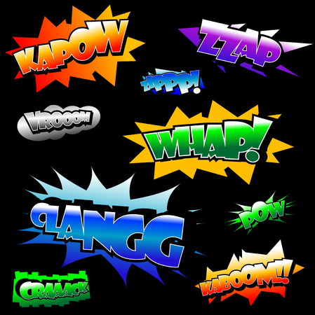 Vector illustration of several comicbook texts Stock Vector - 5612261