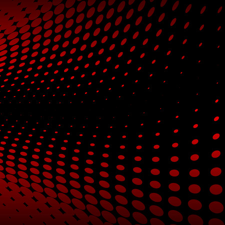 Abstract vector background illustration of a red halftone