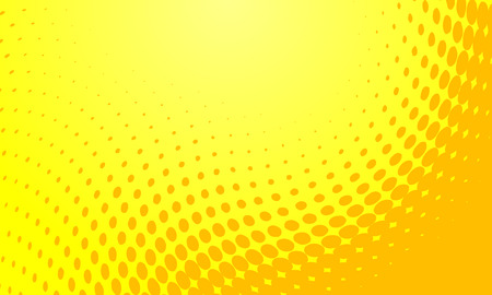 halftone: Abstract vector background illustration of a yellow halftone