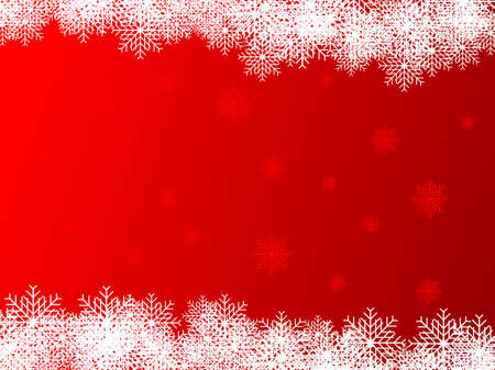 Abstract vector illustration of a red christmas background Illustration