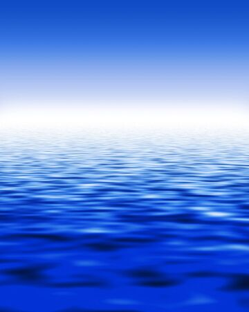 stylistic: Stylistic illustration of water and blue sky