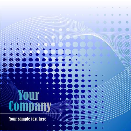 Zusammenfassung Darstellung eines blauen Hintergrund mit Halbton-Linien Standard-Bild - 5644187