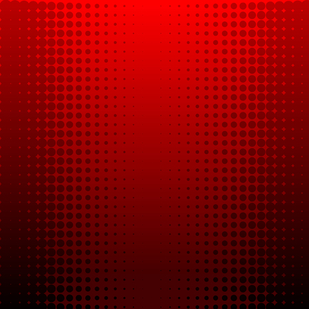Abstract vector illustration of a red halftone background
