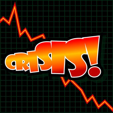 profit and loss: Illustrazione vettoriale astratta di un grafico verso il basso con il testo
