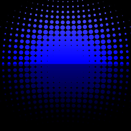 gig: Abstract vector illustration of a blue halftone dome