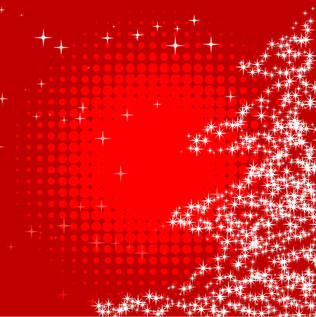 Abstract vector illustration of a christmas background with twinkles Stock Vector - 5661511