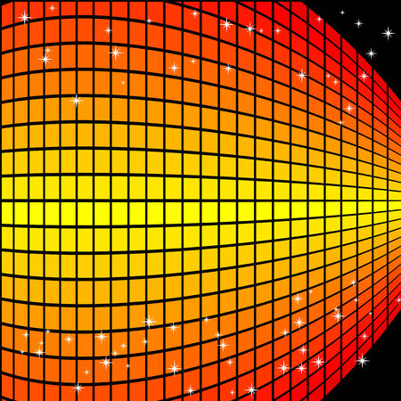 Abstract vector illustration of an orange gradient squares background