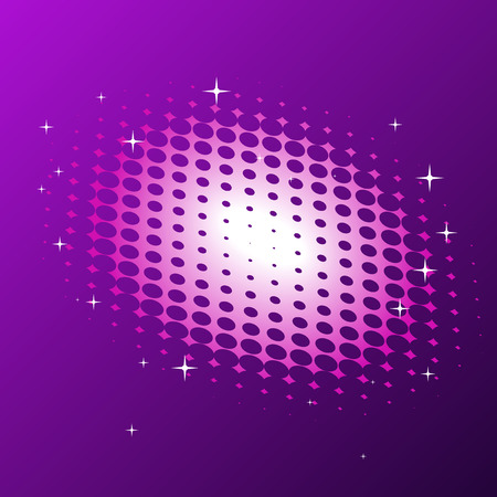 Abstract vector illustration of a halftone background with twinkles Stock Vector - 5680134