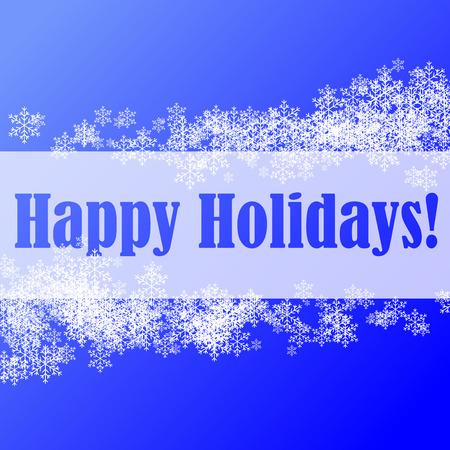 Abstrakte Vektor-Abbildung von einem Weihnachten-Hintergrund mit glücklich Urlaub Grüße Standard-Bild - 5680146