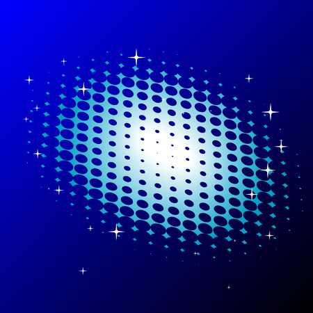 Abstract vector illustration of a halftone background with twinkles Stock Vector - 5695996