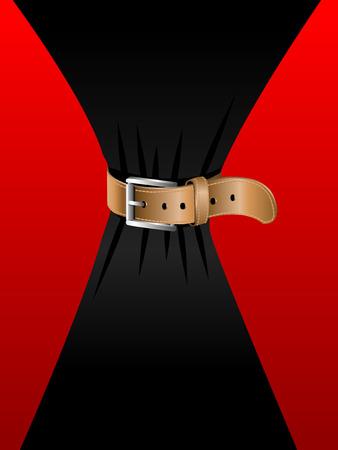 waist: Resumen ilustraci�n de una cintura muy delgada Vectores