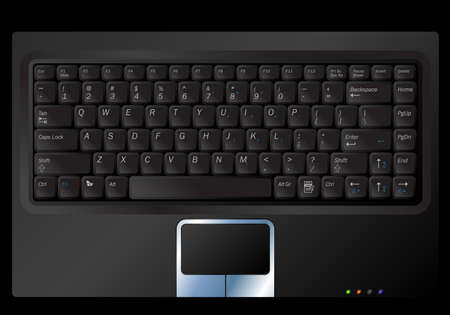 Illustration of a black laptop or notebook keyboard Stock Vector - 5727237