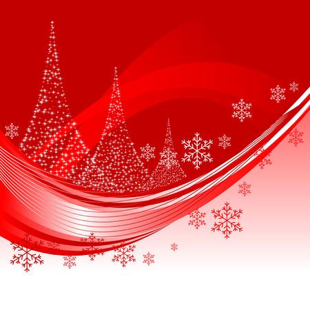 Resumen ilustración de un fondo de Navidad con tres árboles de Navidad Foto de archivo - 5753822