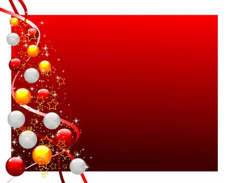festividades: Resumen ilustraci�n de un �rbol de Navidad decorado