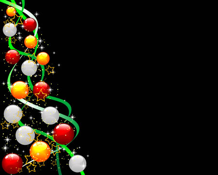 Abstract illustration of a decorated christmas tree