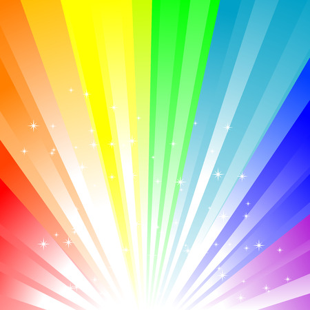 Abstract vector illustration of a rainbow background