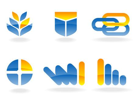 fertile: Abstract vector illustration of several design elements