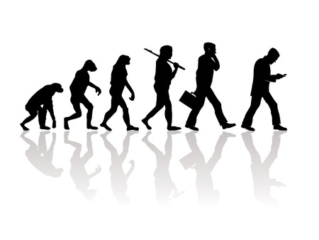 Abstract illustration of evolution Vector