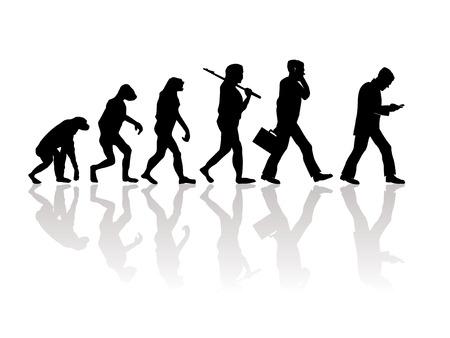 Abstrakcyjna ilustracji ewolucji Ilustracje wektorowe