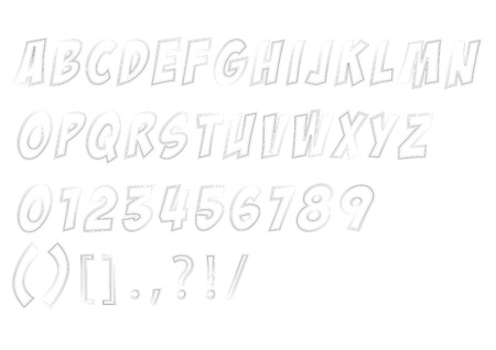 illustration sketched alphabet Stock Vector - 15884582