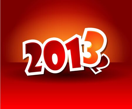 illustration of new year 2013 Stock Vector - 15932444