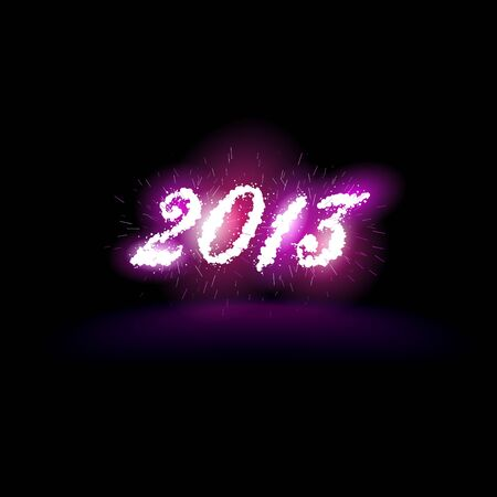 illustration of 2013 in fireworks and sparks Stock Vector - 16005952