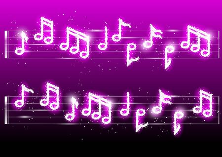 Vector illustration of fireworks musicnotes Vector
