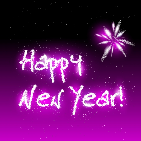 illustration of Happy New Year in sparks Vector