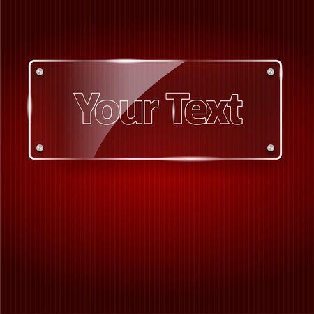 Ilustración del vector del marco de vidrio se puede colocar sobre cualquier fondo Foto de archivo - 16125183