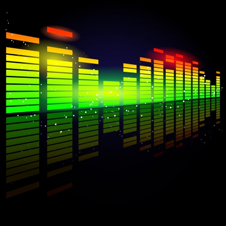 deejay: Vector Illustration eines digitalen Equalizer