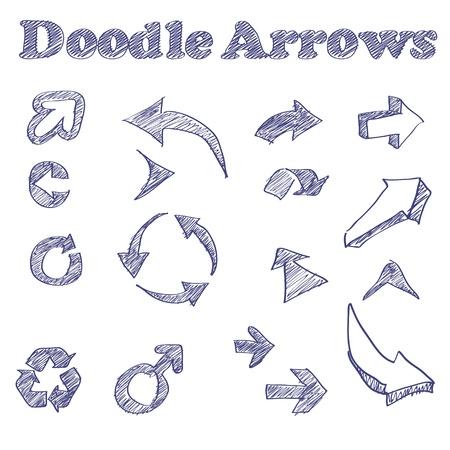 illustration of sketched arrows