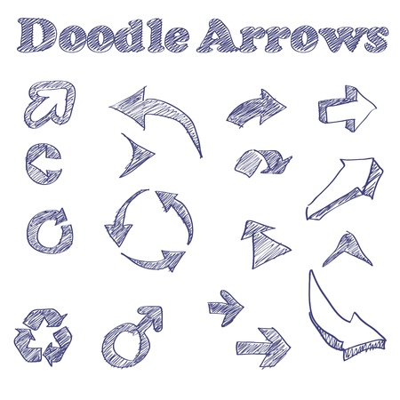 illustration of sketched arrows Stok Fotoğraf - 16235591