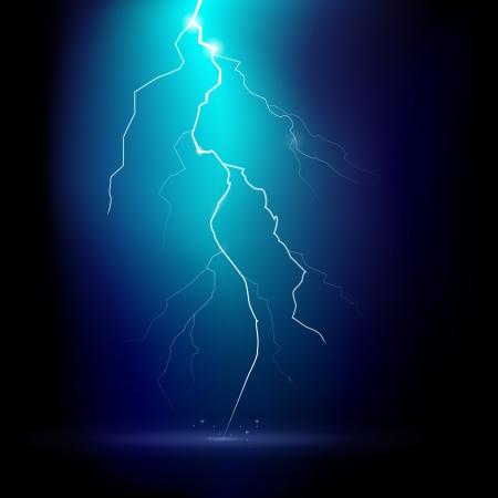lightning bolt:  illustration of a thunder storm at night Illustration