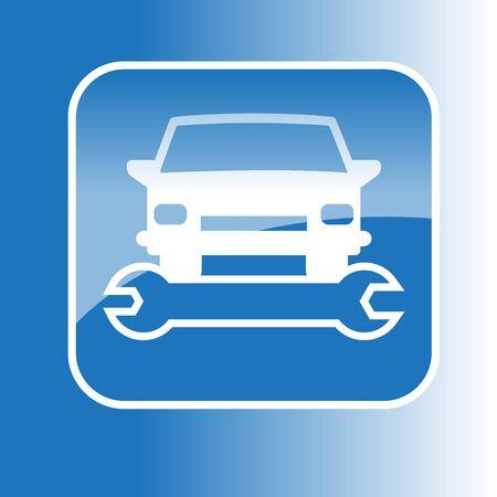 Symbol wektora samochodu i klucz