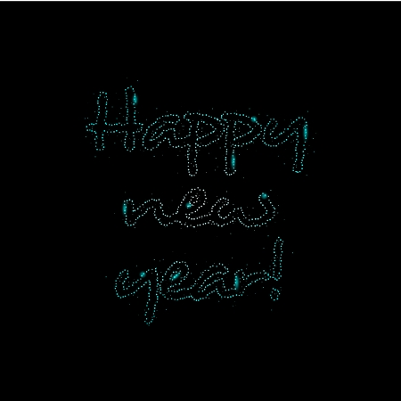 illustration of happy new year text in sparkles Vector