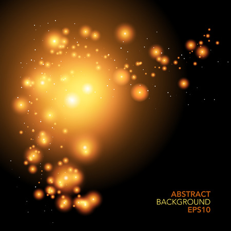 milkyway: Abstract vector illustration of space like planets on black Illustration