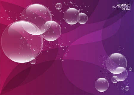 Abstract illustration of a purple background with bubbles Vector