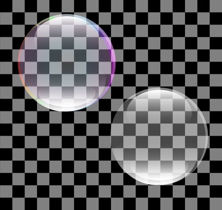 Abstract of a soap bubble Vector