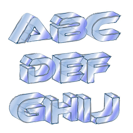 Abstract illustration of an icy font Vector
