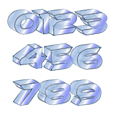 icy: Abstract illustration of an icy font Illustration