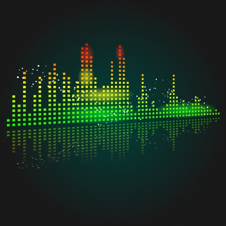 Abstract of a graphic equalizer Stock Vector - 23651109