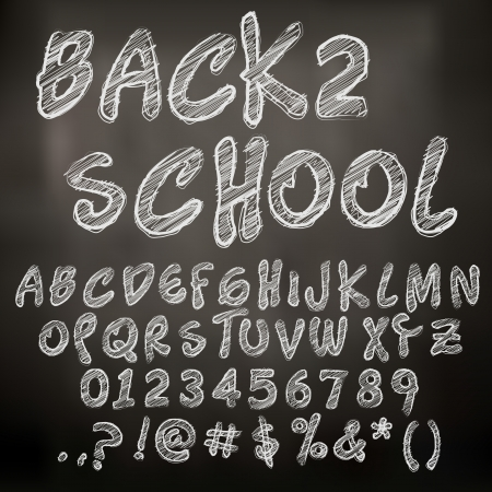 Abstract Vector Illustration Of Chalk Sketched Letters Stock Vector - 24201538