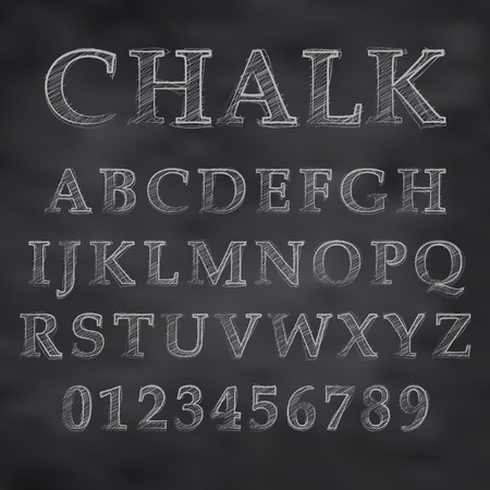 Vector Chalky font Stock Vector - 29121037